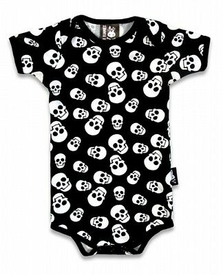 Six Bunnies Born To Ride One Piece Romper Baby Rockabilly Punk Rock Cool Flames