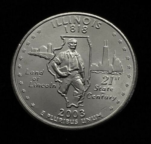 2003 D MINT Illinois State Quarter Uncirculated Shipping Discount! IL
