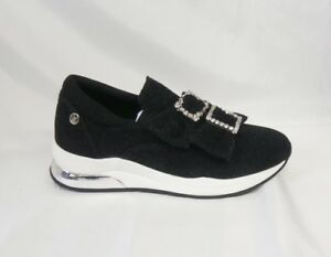 Liu-Jo-shoes-slip-on-fiocchi-glitter-B68011-nero