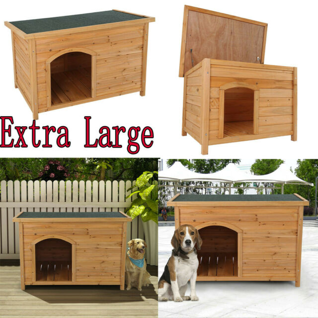Tangkula Dog House Pet Outdoor Bed Wood