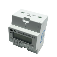Wifi Smart Electric Energy Meter Single Phase Din Rail 560a 110v220v With