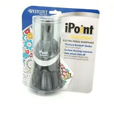 Westcott 14888 Ipoint Evolution Electric Pencil Sharpener Black And Silver New