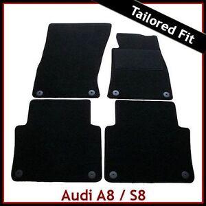 Audi-A8-SWB-Mk2-D3-2003-2010-Tailored-Carpet-Car-Floor-Mats-BLACK