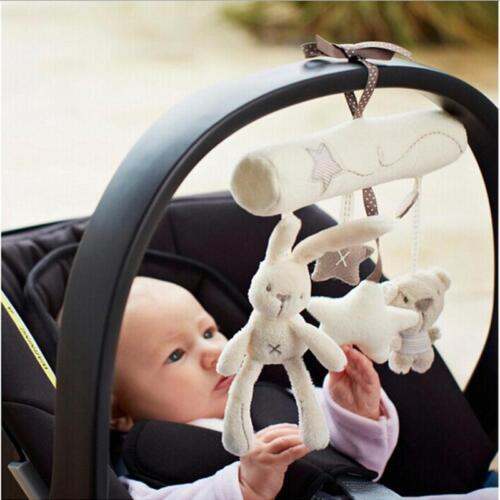 Bed Bell Developmental Toy Baby Newborn Plush Toys Animal Handbells Rattle Toy