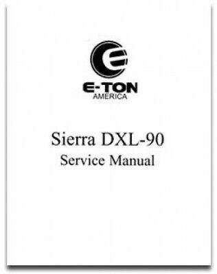 Eton rxl 90 service manual   repair manuals, manual, spa services.