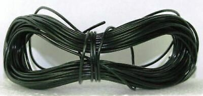 Model Railway//Railroad Layout//Power//Dropper Wire 20m Roll 16//0.2mm3A Black 2ndPO