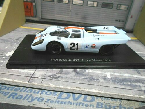 Porsche 917 K le mans 1970 #21 Rodriguez Kinnunen Gulf dc Hachette Spark 1:43