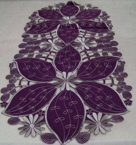 MODERN HIGH QUALITY EMBROIDERED  TABLECLOTH//TABLE RUNNER VARIOUS SIZES COLOURS