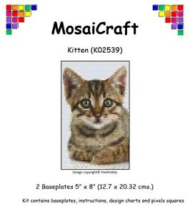 MosaiCraft-Pixel-Craft-Mosaic-Art-Kit-039-Kitten-039-Pixelhobby