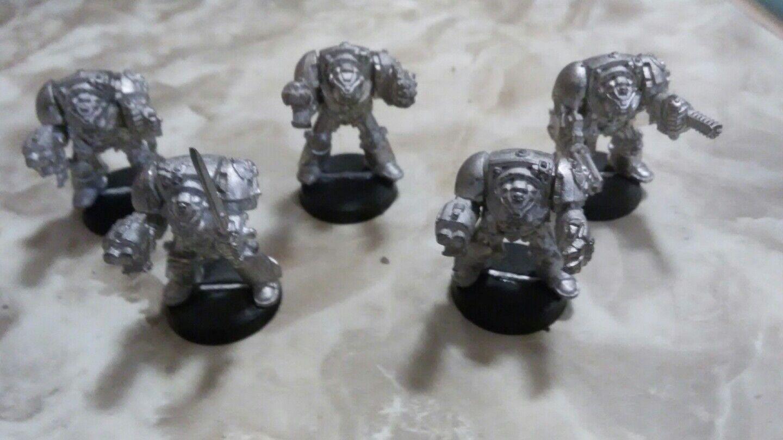 Warhammer 40k Space Marine  5 Terminators. Metal OOP