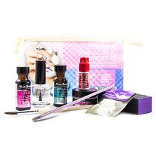 Mia Secret Pink Acrylic Powder KIT Xtrabon Monomer Brush Glue File Tips Top Coat