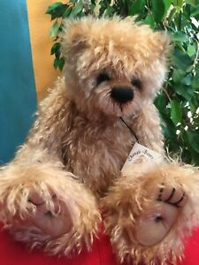 "Artist  curly Mohair Teddy Bears JOSH Janet Changfoot ChangleBears Vintage 16"""