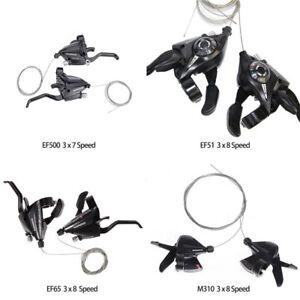 SHIMANO-Bike-Brake-Shifters-Set-Brake-Levers-amp-Shift-Levers-Black-3x7-8speed