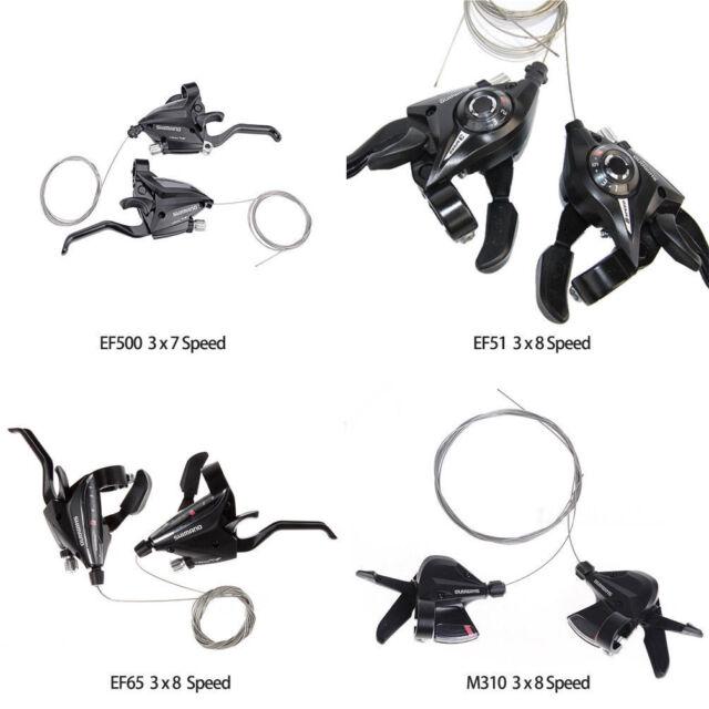 SHIMANO Bike Brake Shifters Set Brake Levers/&Shift Levers EF500-7 3x7S Black US