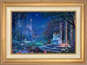 Thomas-Kinkade-Disney-CINDERELLA-DANCING-IN-THE-STARLIGHT-18x27-LE-S-N-Canvas