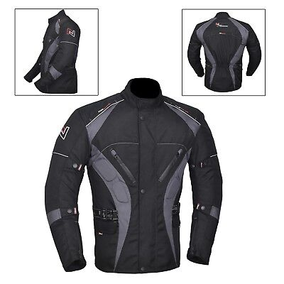 NORMAN Mens Motorcycle Motorbike Jacket Waterproof Textile with CE Armoured Camouflage