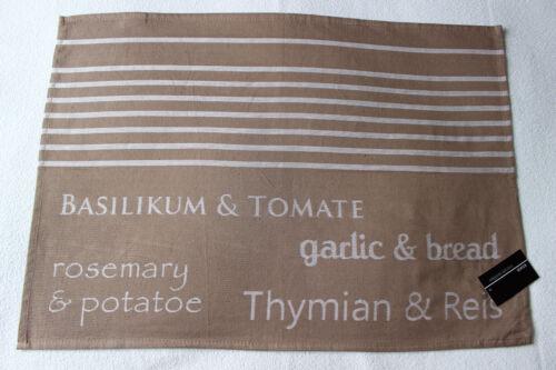 Stuco Geschirrtuch Küchentuch Trockentuch trends aktuell Baumwolle Braun//Weiß