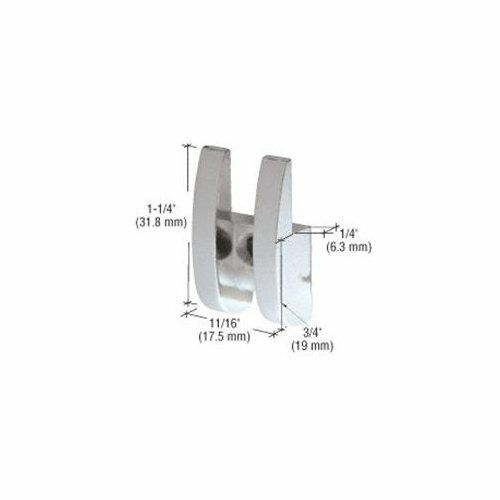 """CRL Polished Chrome Look 11//16/"""" Wide Rounded Metal Mirror Clip"""