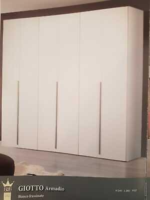 Armadio 6 Ante In Legno Bianco Frassinato Con Le Attrezzature E Le Tecniche Più Aggiornate