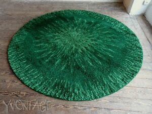 Kultiger hochflor teppich rund bergoss cm grün er er space