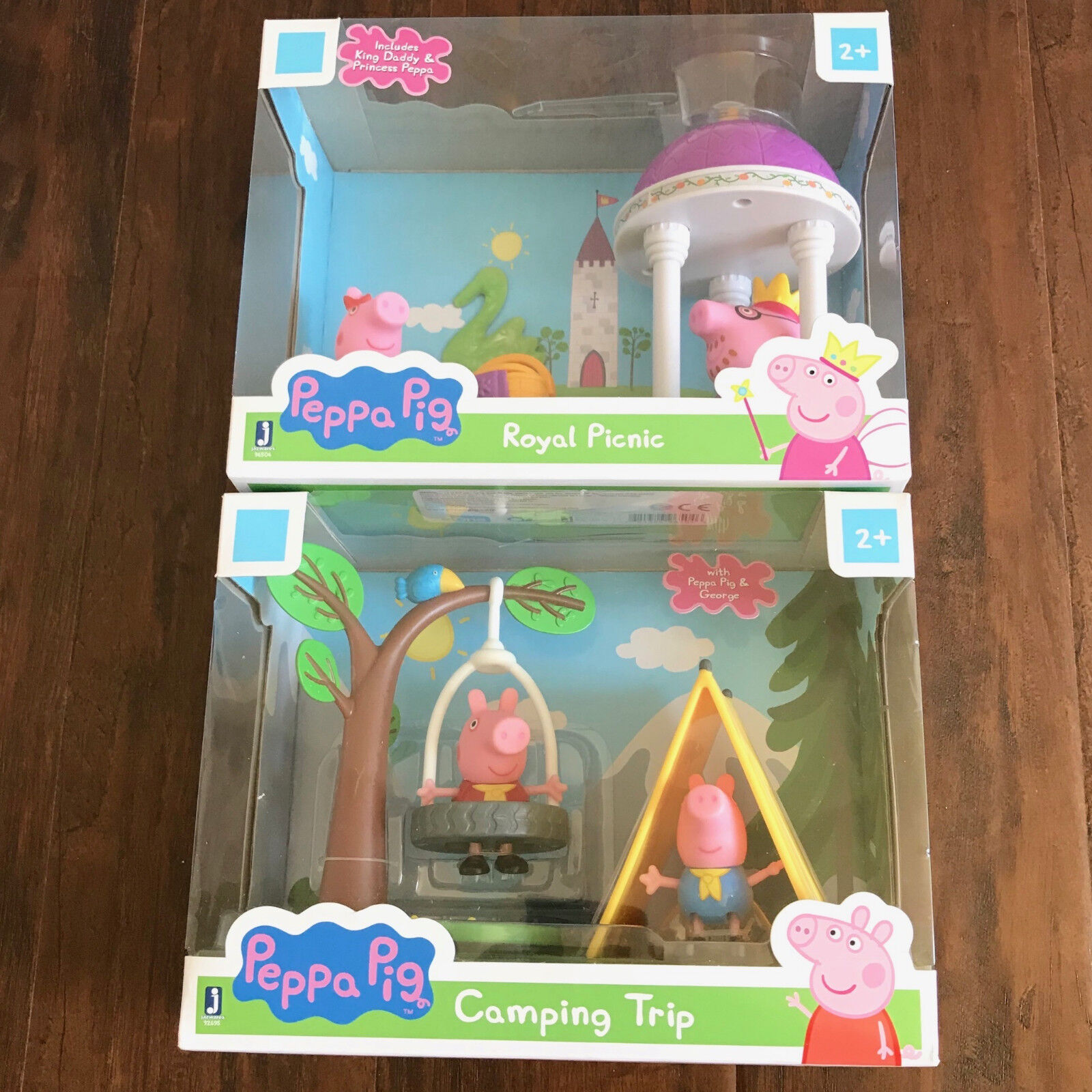 NYA OCH SEALERADE Peppa Pig spela Set - Royal Picnic & Camping Trip (Lot of 2)