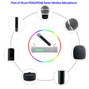 cover set for shure pgx2 pg58 wireless mic cartridge grille switch kit reparire ebay. Black Bedroom Furniture Sets. Home Design Ideas