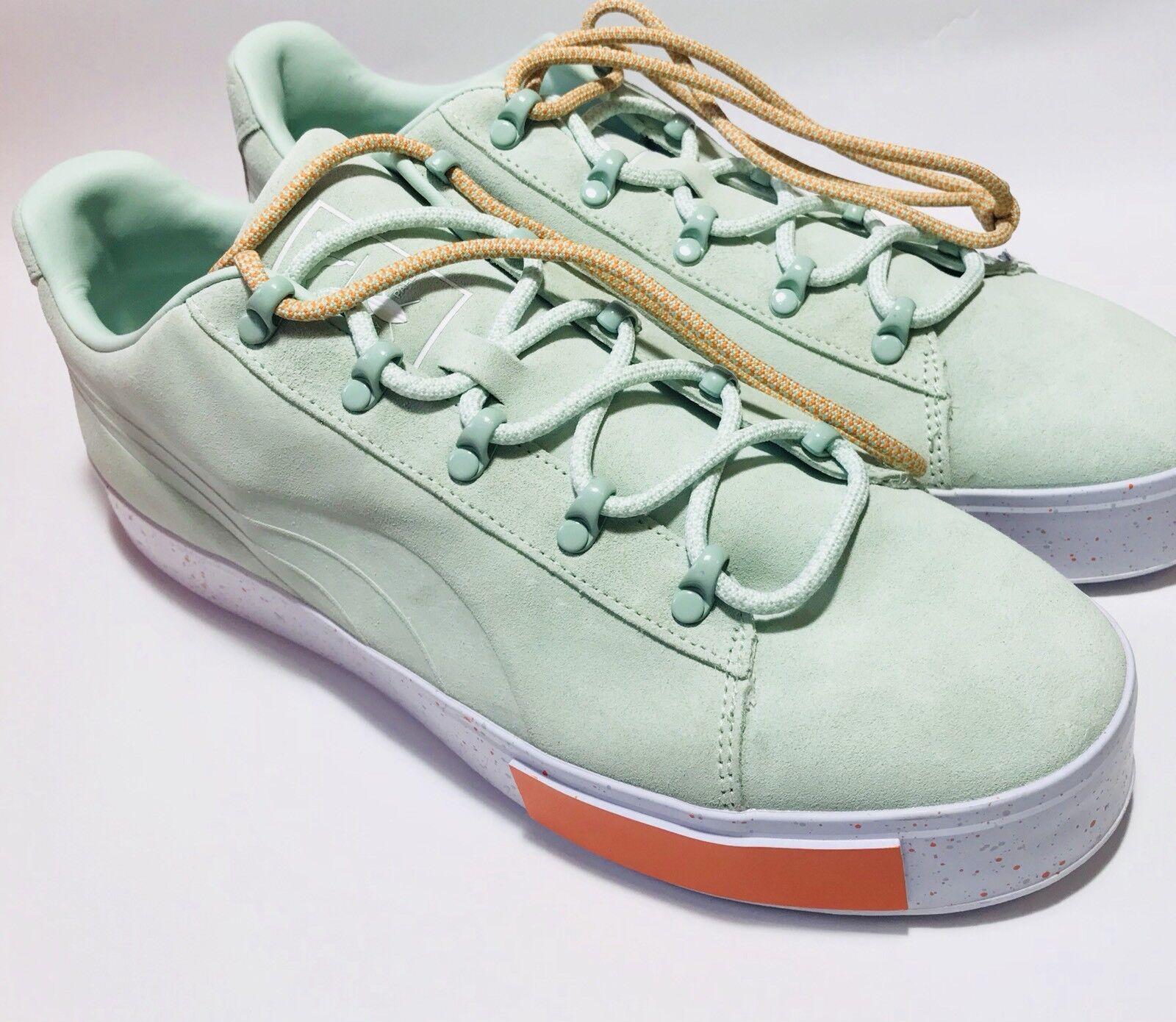 puma mens green sneakers