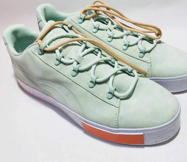 50a3ec935 NEW Puma x DP Court Platform SS Men Round Toe Suede Green Sneakers SZ10 (No