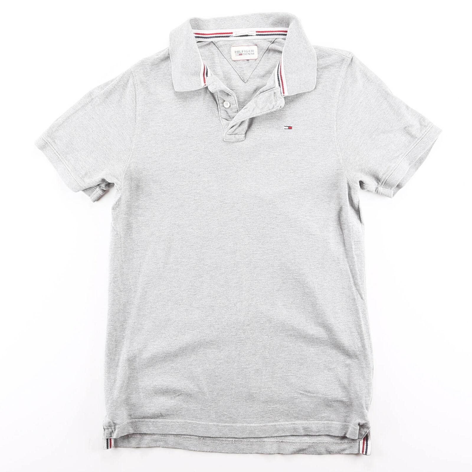 TOMMY HILFIGER Grey 00s Short Sleeve Polo Shirt M