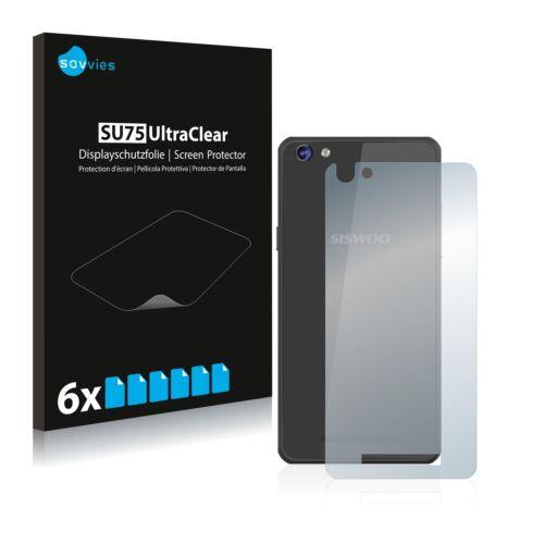 reverso 6x láminas protectoras de pantalla para siswoo c50 longbow claro transparente