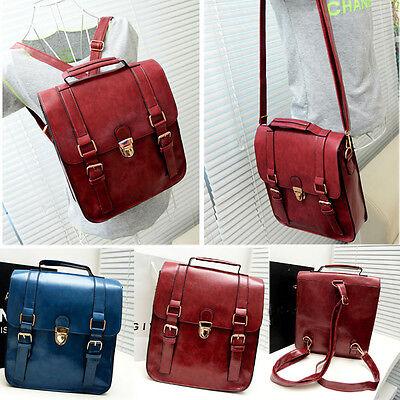 Faux Leather Bookbags Casual Women's Backbag Cute Girls Boys' School Backpacks