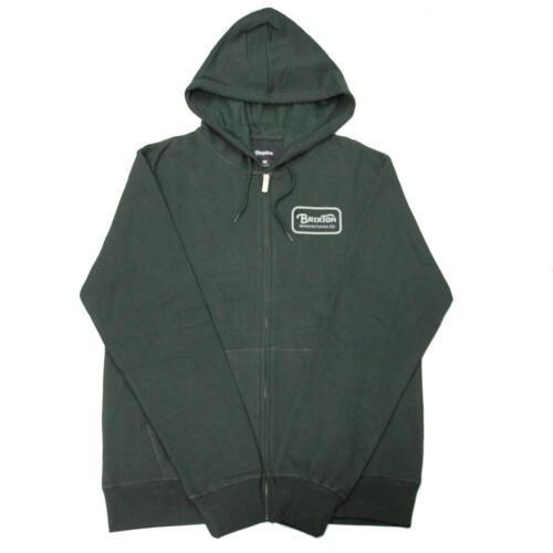 New With Tag! Authentic Brixton Men/'s Grade Zip Fleece Hoody In Hunter Green
