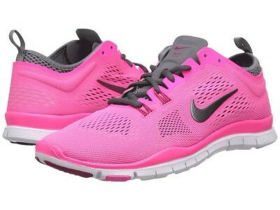 NIKE FREE 5.0 TR FIT WOMENS SHOES PINK/GREY SIZE 7.5 629496 600