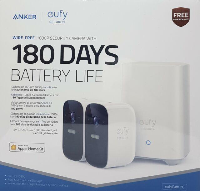Anker eufy Security eufyLEVA 2C inalámbrico Sistema de seguridad de 2 cámaras HD