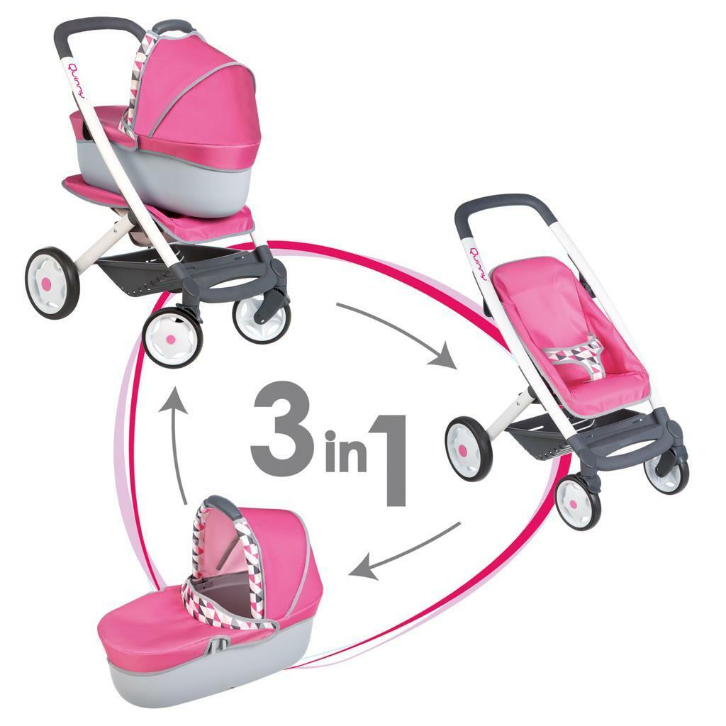 Smoby  Quinny 3-in-1 Multifunktions-Puppenwagen