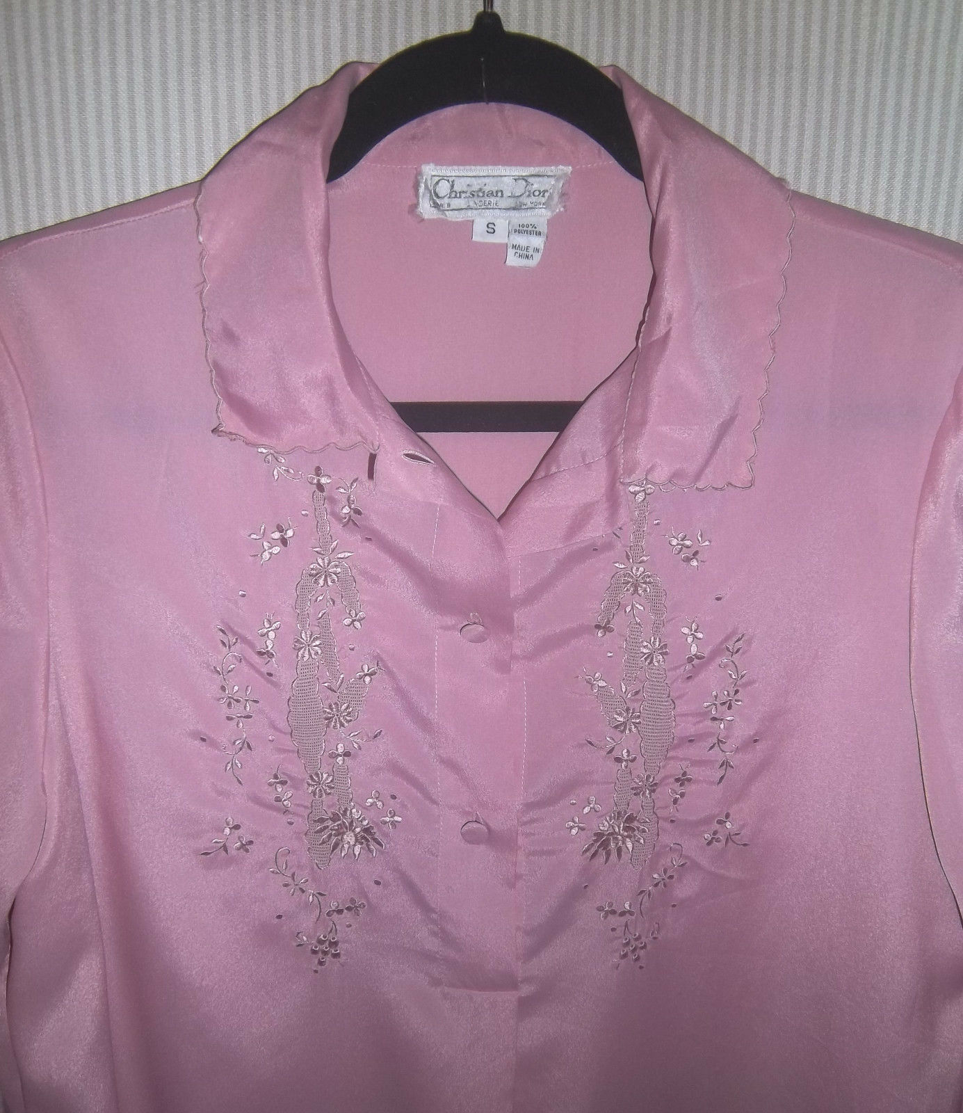 Vintage 1980's Christian Dior Size S Lilac Night … - image 5
