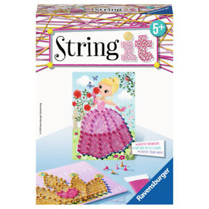 RAVENSBURGER Bastelset String it Mini: Pink Princess Kreativset Fadenkunst ab 5+