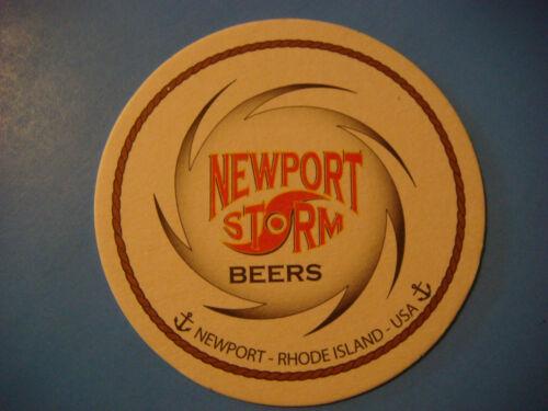 RHODE ISLAND Brewery Since 1999 NEWPORT STORM Beers ~ Newport Beer Bar Coaster