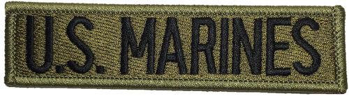 MARINES Nametape Tab United States Marine Corps USMC Sew Iron on Patch OD B U.S