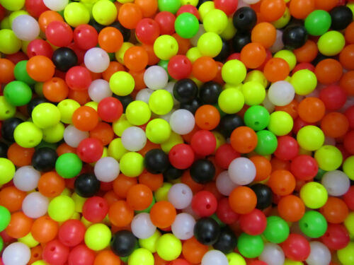 pack of 100 1 x PACK 8mm MIXED SEA FISHING RIG BEADS BRITISH MADE 4 FISHING