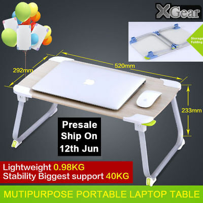 Portable Foldable Table Adjustable Tray Laptop Desk Stand TV Dinner Bed Home Hot