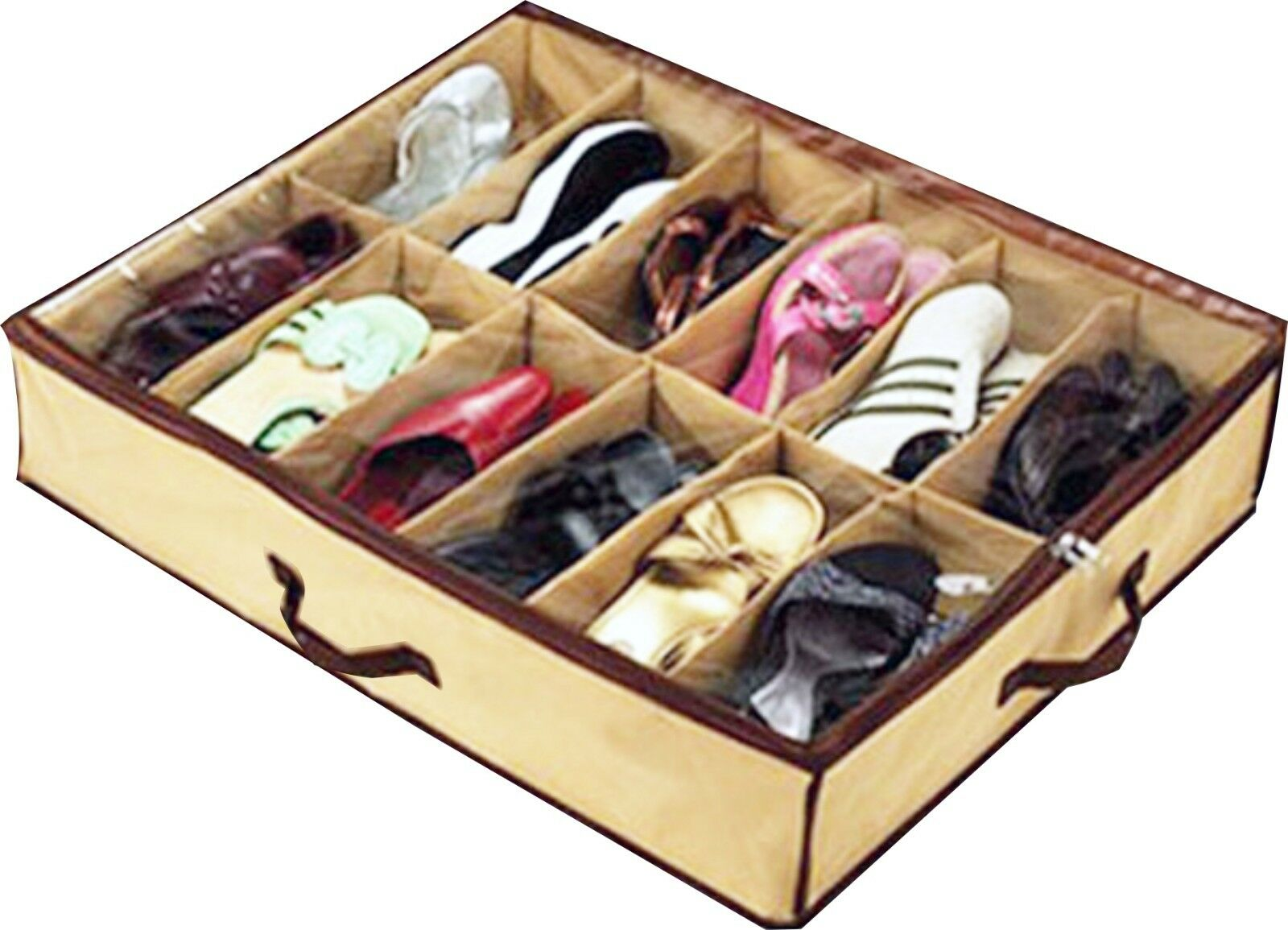 schuhe aufbewahrung shoes under box holds schuhorganize r unterbettkommode neu ebay. Black Bedroom Furniture Sets. Home Design Ideas