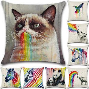 Cushion-Cover-Square-Rainbow-Animal-Printed-Pillowcase-Home-Sofa-Living-Room-18-034