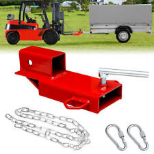 Clamp On Forklift Hitch 2receiver Pallet Fork Trailer Towing Adapter Heavy Duty