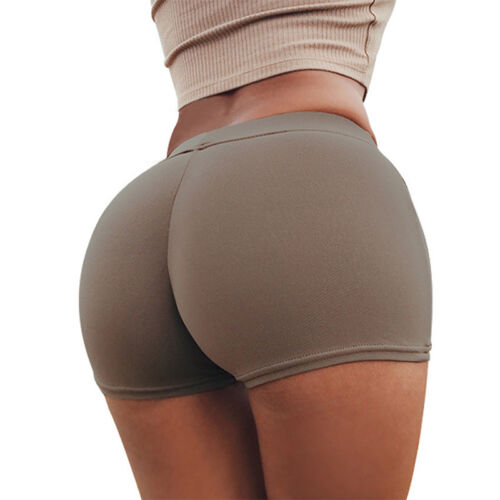 Damen High Waist Push Up Shorts Hotpants Kurze Hose Sports Fitness Sports Hosen