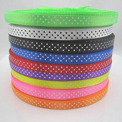 NEW 10Yards 3/8 9mm Polka Dot Ribbon Satin Craft Supplies pick lots colors craft