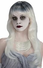 Black White Long Ghost Adult Wig Costume Accessory NEW Haunted