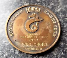 Vintage Royal Ocean Racing Club 1957 Medal / Medallion - Yacht Sailing
