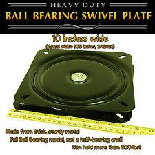 1pc 10 Inch 245mm Full Ball Bearing Flat Swivel Plate Turntable