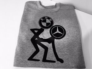 8f9d3abdce6be FUNNY BMW AND MERCEDES PRINTED T-SHIRT TEE TOP SHIRT GREAT GIFT ...